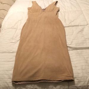 Hot Miami styles faux suede camel dress